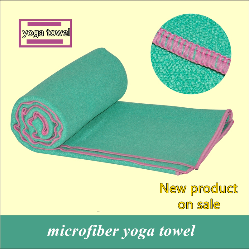 High quality Microfiber Yoga Towel Yoga Blanket Sweat absorbing slip-resistant antibiotic Eco-friendly 185cm*63cm yoga towel(China (Mainland))