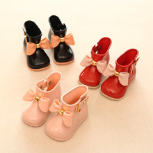 11.8-19.8cm Mini sed Bow girls rain Boots for baby toddler little girls boots Waterproof Child Rubber Boots Jelly water shoes(China (Mainland))