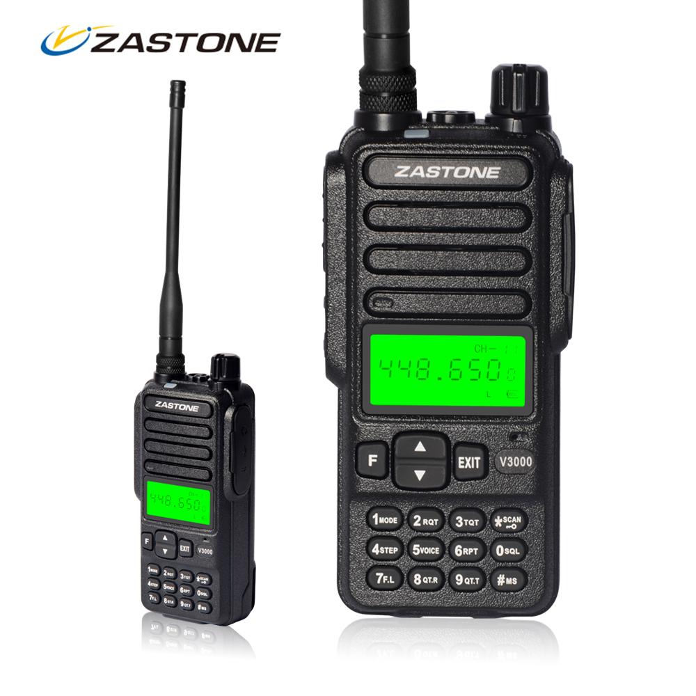 Walkie Talkie 10km Zastone V3000 8W 400-470mHz Frequency Portable UHF Handheld Radio Communicator HF Transceiver 4000mAh Battery(China (Mainland))