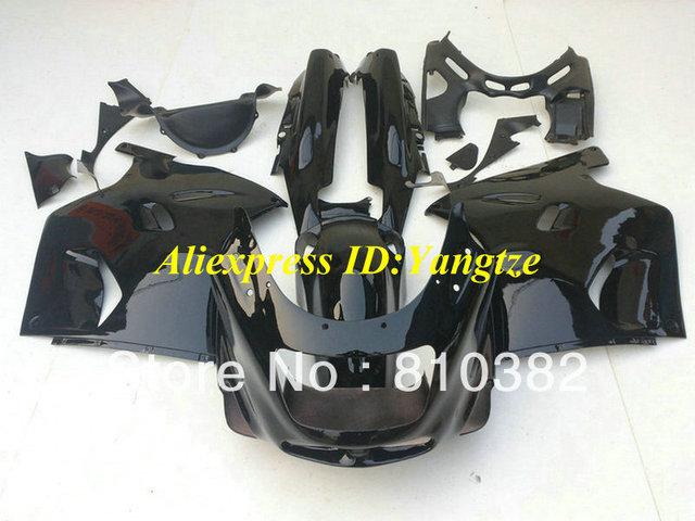 ABS Fairing kit for 1993 2003 KAWASAKI Ninja ZZR1100 93-03  ZZR 1100 1993-2003 ZX-11 ZZR1100D all gloss black fairings bodywork