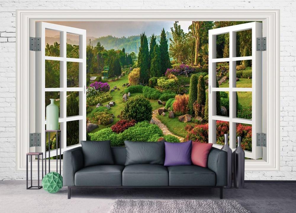 Popular garden mural wallpaper buy cheap garden mural for English garden wall mural