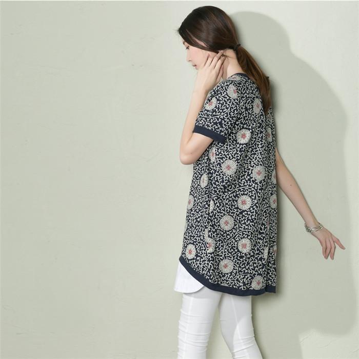 Здесь можно купить  Navy Daisy floral summer linen dress oversize cotton shift sundress  Одежда и аксессуары