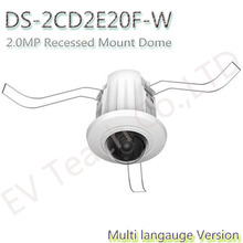 Free shipping Multi language Version DS-2CD2E20F-W 2.0MP Recessed Mount Dome Support EZVIZ Cloud service(China (Mainland))