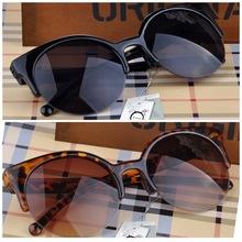 Fashion Retro Designer Super Round Circle Glasses Cat Eye Semi Rimless Sunglasses Glasses Goggles XMPJ093