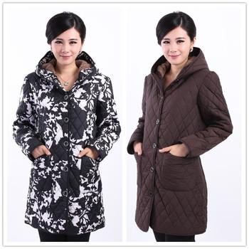 Куртка хлопок - мягкий капюшон, осень зима женщины женское приталенный утолщаются ...