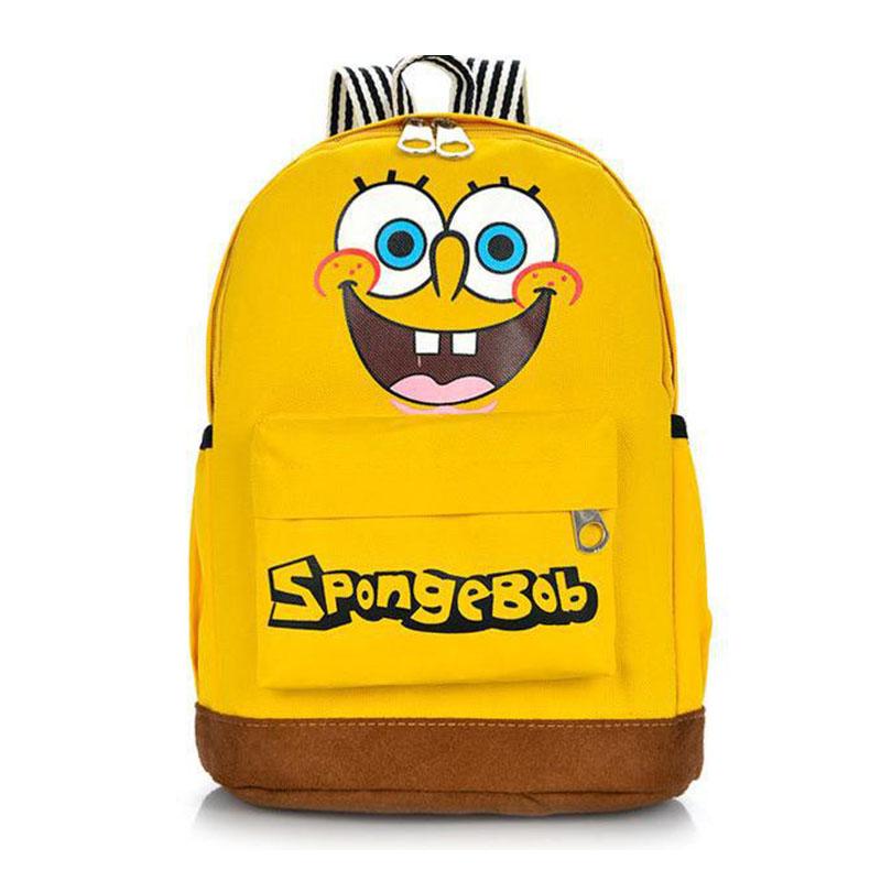 lovely cartoon children backpacks cute spongebob doraemon print school bags for boys girls kids travel bag rucksack mochila 260t(China (Mainland))