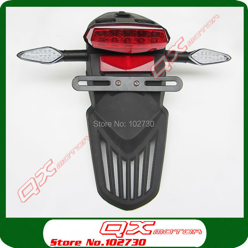 Dirt Pit Bike off road Motorcycle Tail Light Registration Plate Holder with Turn Signal Light Rear Fender sets Free shipping