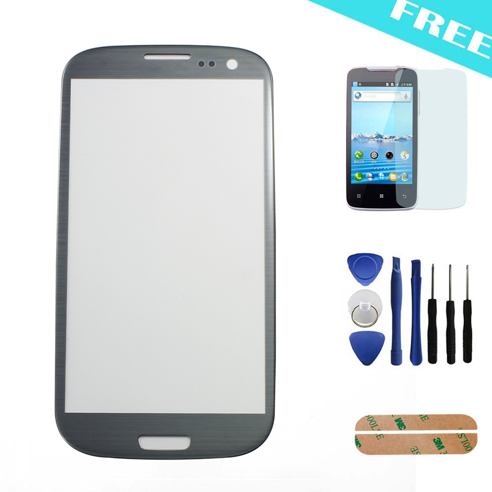 10pcs/lot Gray Replacement LCD Front Touch Screen Glass Outer Lens 4.8'' For Samsung Galaxy S3 SIII I9300 Film+Tools+Adhesive(China (Mainland))