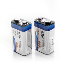 2pcs/lot 600mAh Li-ion 9 V Rechargeable Batteries For Smoke detectors Wireless Microphones free shipping(China (Mainland))