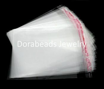 Free Shipping! 200 Clear Self Adhesive Seal Plastic Bags 12x9cm (B07378)