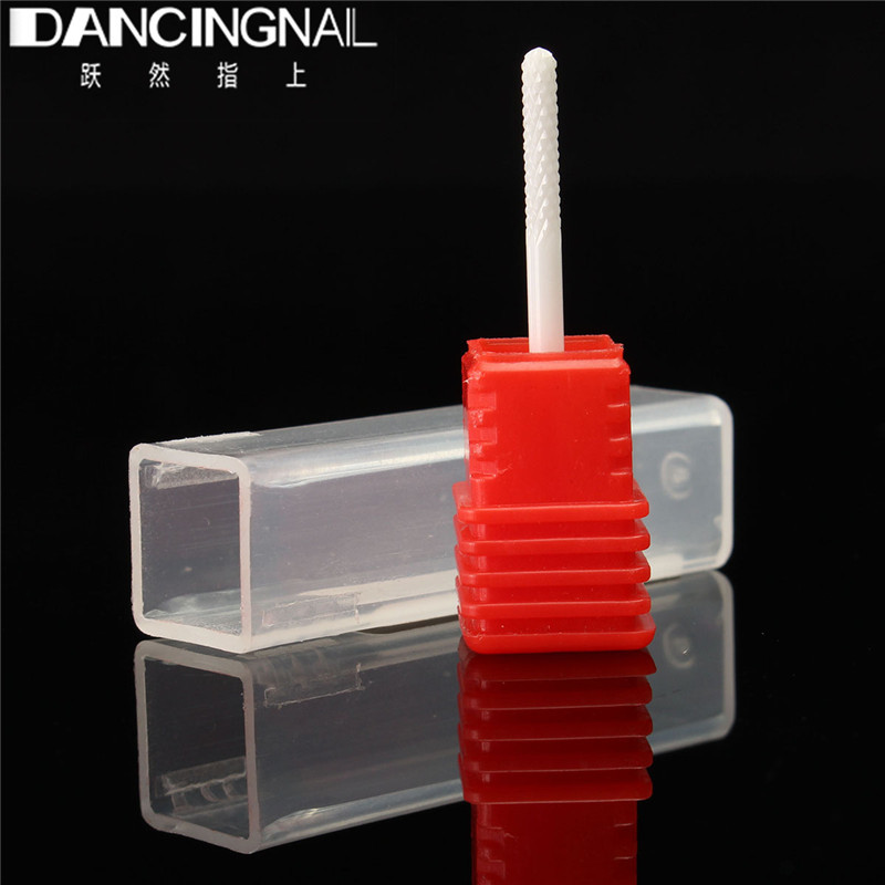 "New 1pcs 3/32"" Small Barrel Ball Ceramic Nail Drill Bits Pedicure Electric Manicure Drills Machine Accessories Polish Clean Nail(China (Mainland))"