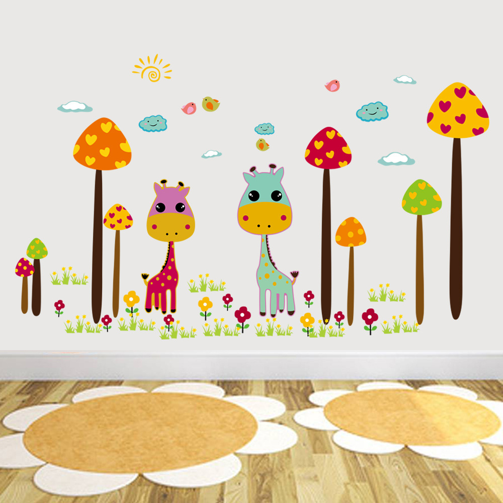 Christmas Anime Children's Room Decorative Wall Stickers ...