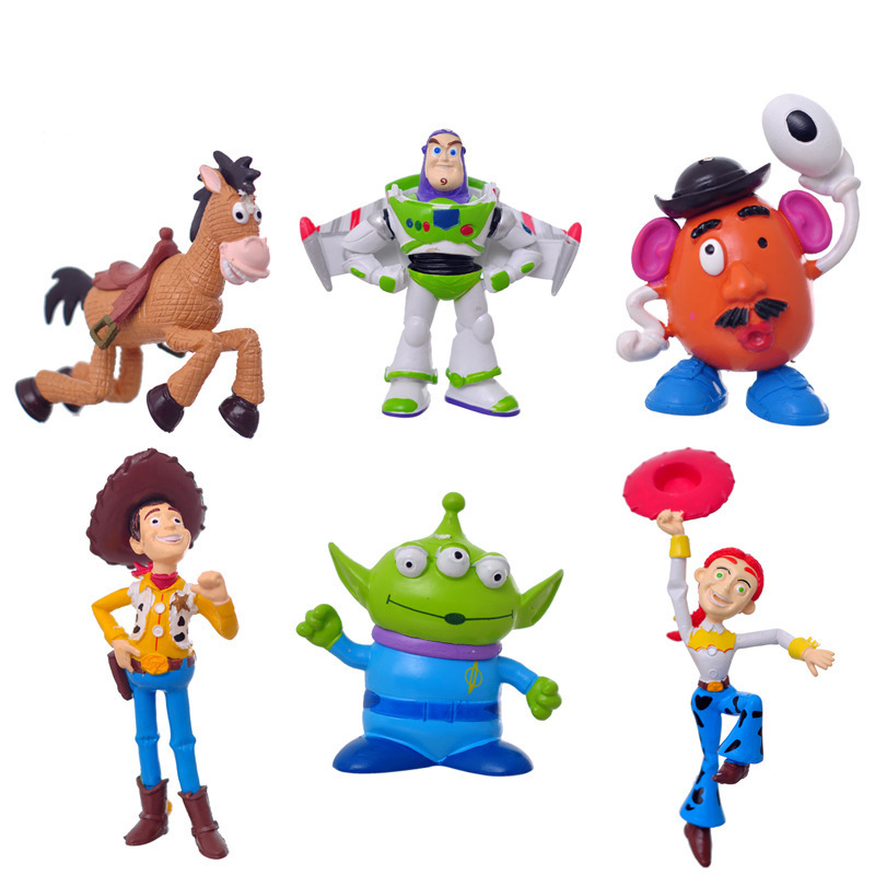 6pcs/set Toy Story figure Buzz Lightyear Woody Jessie PVC Action Figures Toys Dolls Child Toys Free Shipping(China (Mainland))