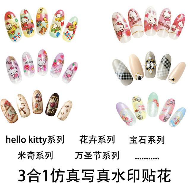 Nail art nail watermark sha ultra-thin applique water transfer printing nail art accessories flower