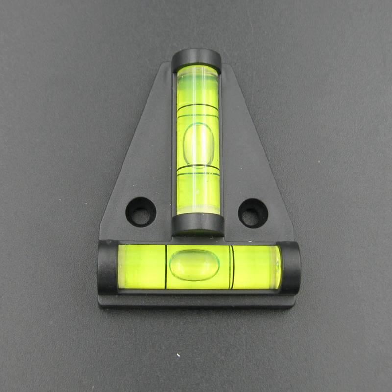 (50 pieces/lot) T type spirit level measurement instrument Triangular Plastic level indicator Shell Black and Sigle Ticks Line<br><br>Aliexpress