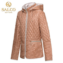 Salco бесплатная доставка новый европейский и американский мода хлопок стеганый вышитые премиум женщины