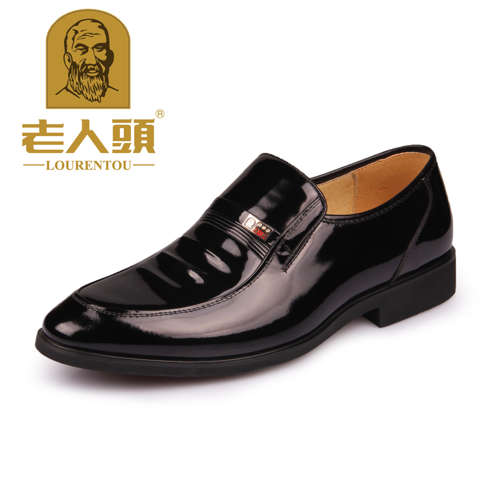 Crocodile leather male genuine leather business formal shoes white collar japanned leather comfortable leather shoes low(China (Mainland))