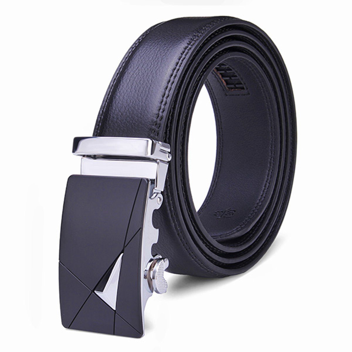 High Quality 2015 New Brand Mens Stylish Business Luxury Belts Second Floor Cowhide Automatic Alloy Buckle Design Leather Belt(China (Mainland))