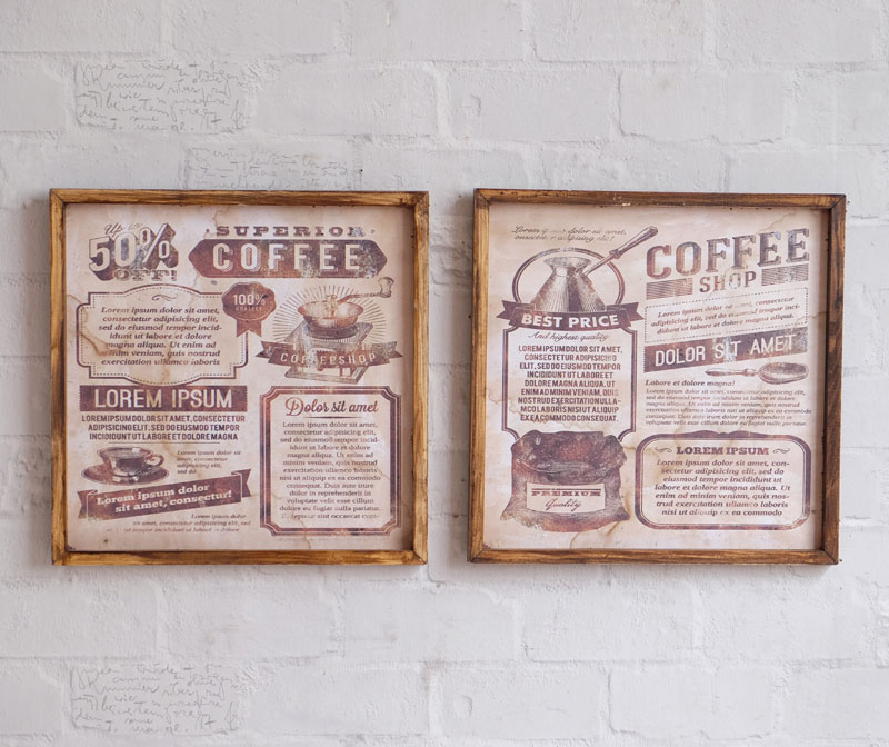 American country retro nostalgia cafe bar restaurant coffee elements wood paintings decorative painting murals painted wall