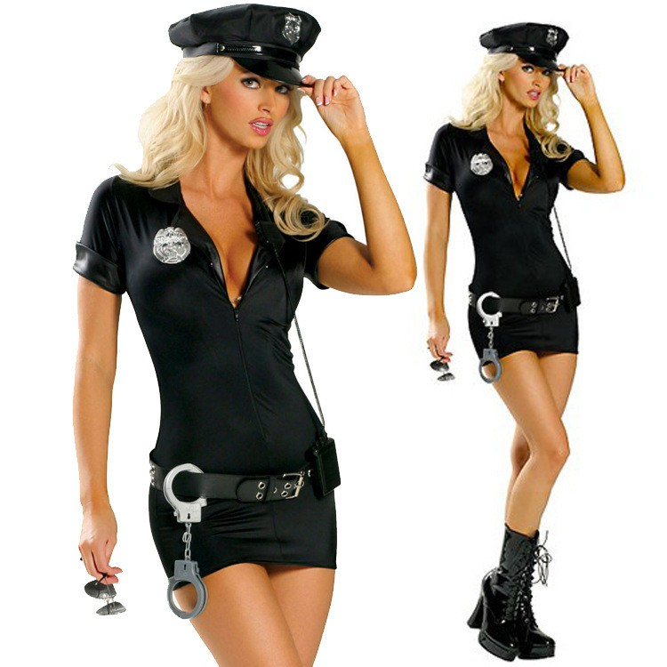 Halloween Costumes For Women Police Cosplay Costume Dress Sex Cop Uniform Sexy Policewomen Costume Outfit Prom Plus size S -2XL(China (Mainland))
