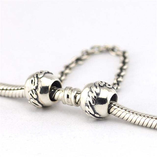 925 - серебристо-ювелирные семейные связи цепи безопасности бусины Fit пандора неповторимое очарование браслеты серебро 925 ювелирных изделий DIY поиск