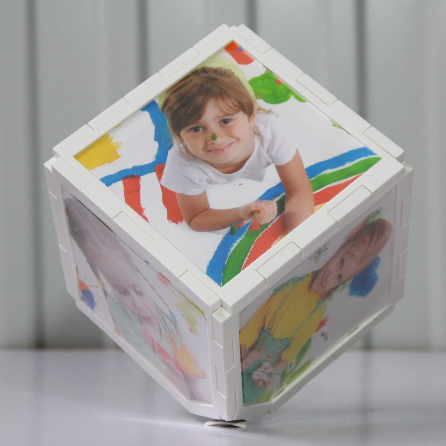 2015 Sale Marcos De Fotos Picture Frames Factory Direct Rotation Of 6 Cubic Inch 8 Photo Cube Frame Supply Children's Studio(China (Mainland))