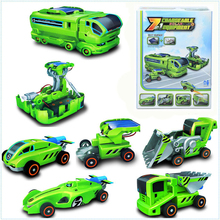 7 IN 1 ceative funny science educational gift electronic DIY deformed assembled robot solar energy toys&battery power for kids(China (Mainland))