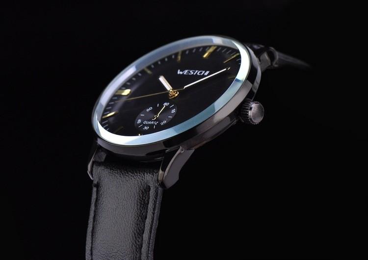 2016 Top brand мужчины наручные часы водонепроницаемые спортивные часы мужчины ремень из натуральной кожи роскошные повседневная кварц горячая продажа наручных часов