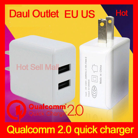 Qualcom Certified ANP Quick Charge 2.0 18W USB Turbo Wall Charger Fast Charger For Nexus 6 Note 4 Xperia Z3 SAMSUNG S6 Edge(China (Mainland))