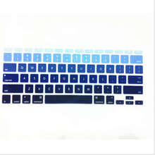 Blue Rainbow Silicone Laptop keyboard Skin Protector Cover film Guard for Apple Macbook Air 11″ 11.6 Inch for Mac Air 11″