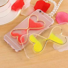 Buy Lovely 3D Luminous Flowing Sand Conque Transparent Twin Hearts Liquid TPU Cover Apple iPhone 7 Case Capa Mobile Phone Cases for $3.44 in AliExpress store