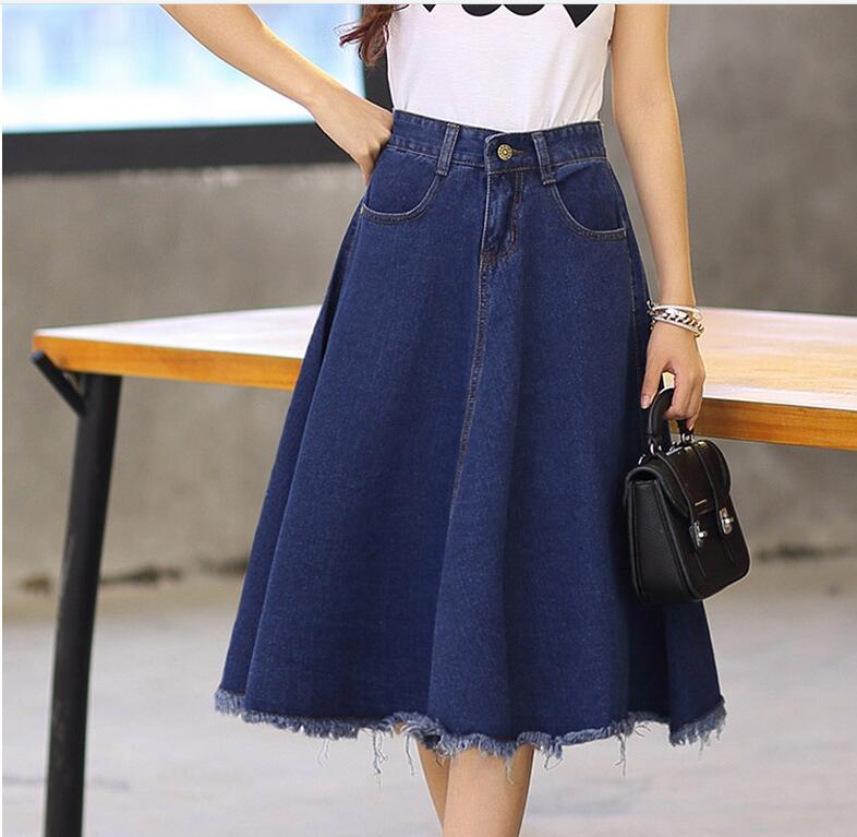 Ladies Jean Skirts