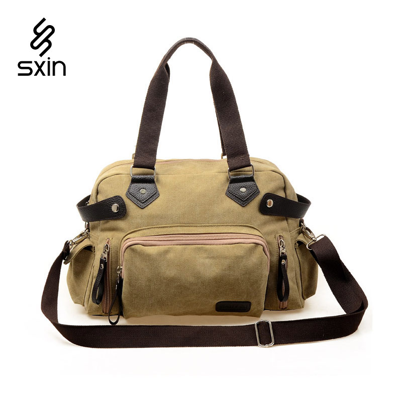 Men Canvas Travel Bags Large Capacity Gym Bag Women Luggage Bags Outdoor Hiking Sport Bag for Trip Waterproof