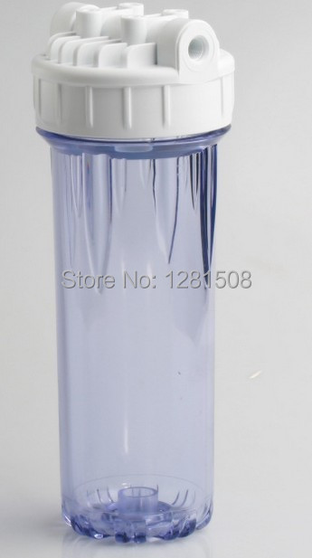 Гаджет  New 2014 Transparent Double-Ring 10 Inch High Pressure Filter Bottle Water Filter Housing 1/2 Inch Connection Interface None Бытовая техника