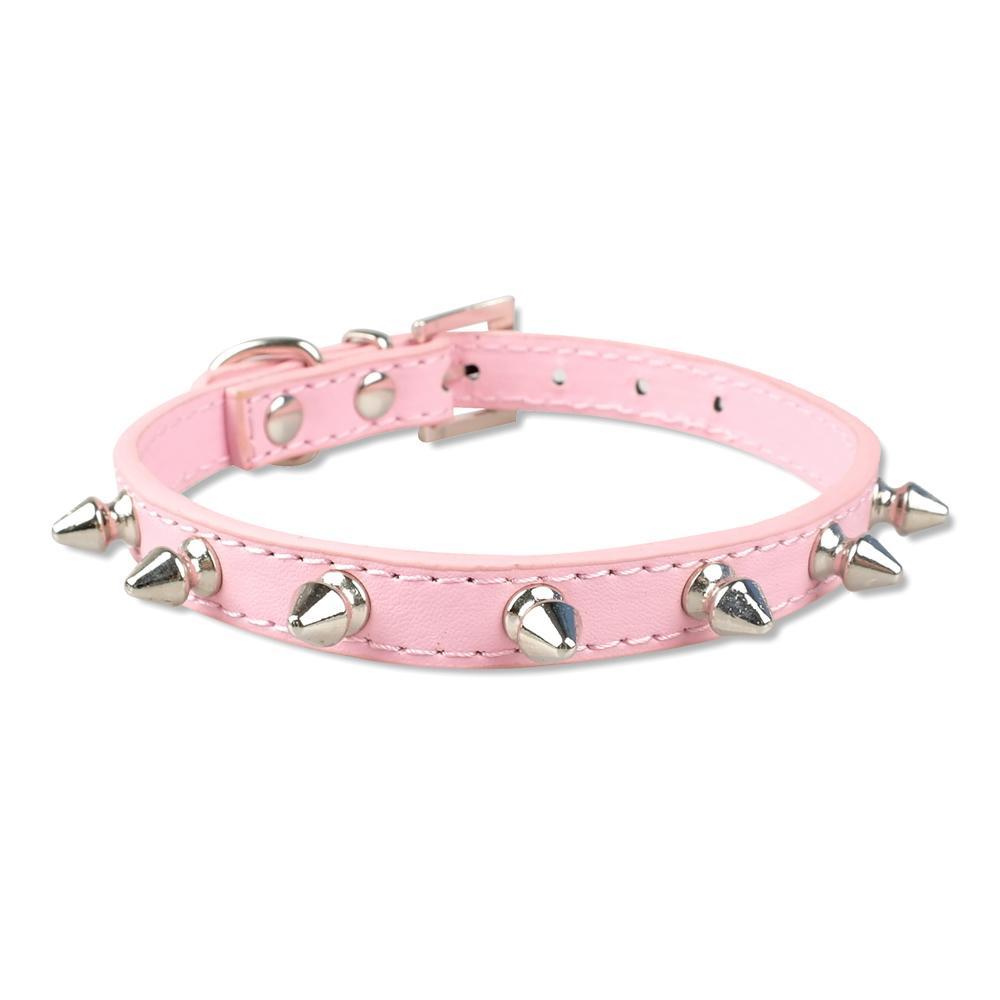 Здесь можно купить  MOQ:40pcs 1 offer Spiked Studded Pu Leather Dog Pet Cat Puppy Collars  8 Colors 4 Sizes  Дом и Сад