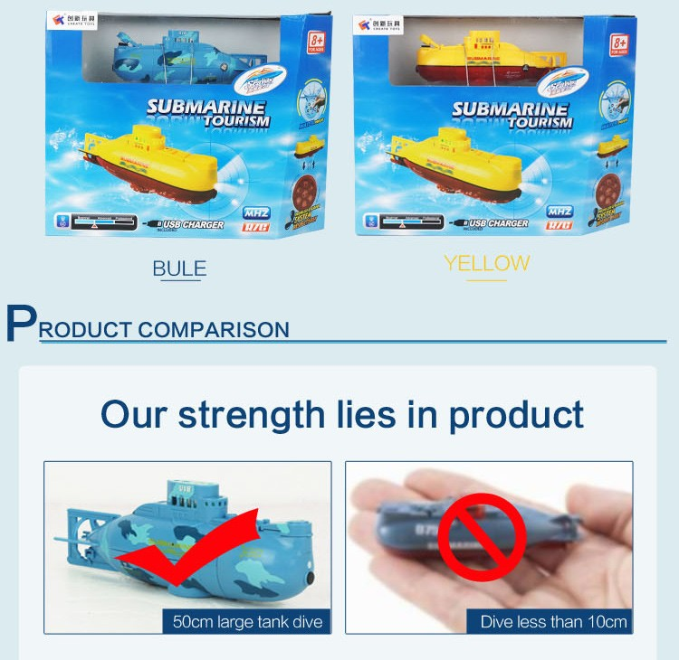 NO.3311 RC Water Boat 6CH Speedboat Model High Powered 3.7V Toy Boat Plastic Model Large RC Submarine Outdoor Toys