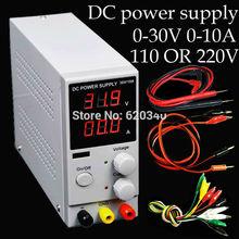 Mini Digital DC fuente de alimentación Ajustable, 0 ~ 30 V 0 ~ 10A 110 V o 220 V, fuente de Alimentación conmutada, certificación para EE. UU./EU/Au del