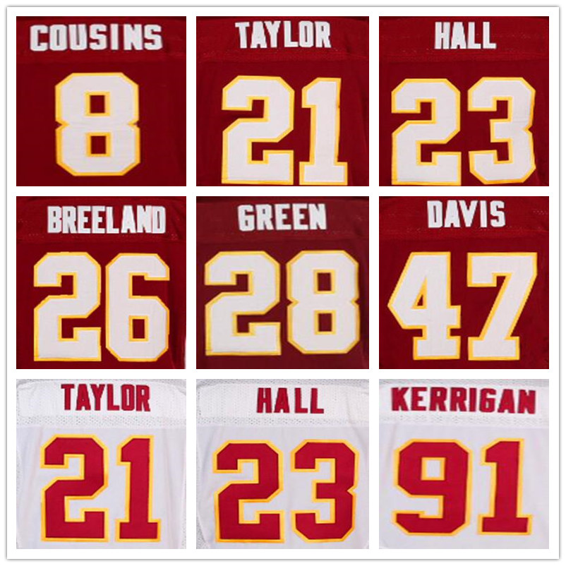 21 Sean Taylor 24 Josh Norman 86 Jordan Reed 10 Robert Griffin III jerseys 44 John Riggins red jerseys 91 Ryan Kerrigan jerseys(China (Mainland))