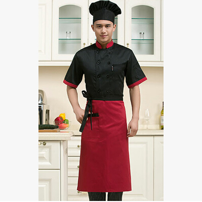 Chef Apron Waterproof Bust Apron Hotel Kitchen Baking Restaurant Waiter Men's and Women's Cotton Apron(China (Mainland))
