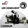 Pair Car Hi Lo Beam LED ETI H4 H4 3 HB2 9003 Bulbs 14400LM Set 120W