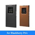 Luxury Original 2015 New Genuine Leather Smart Flip Case for Blackberry Priv Folding Folio Stand Phone
