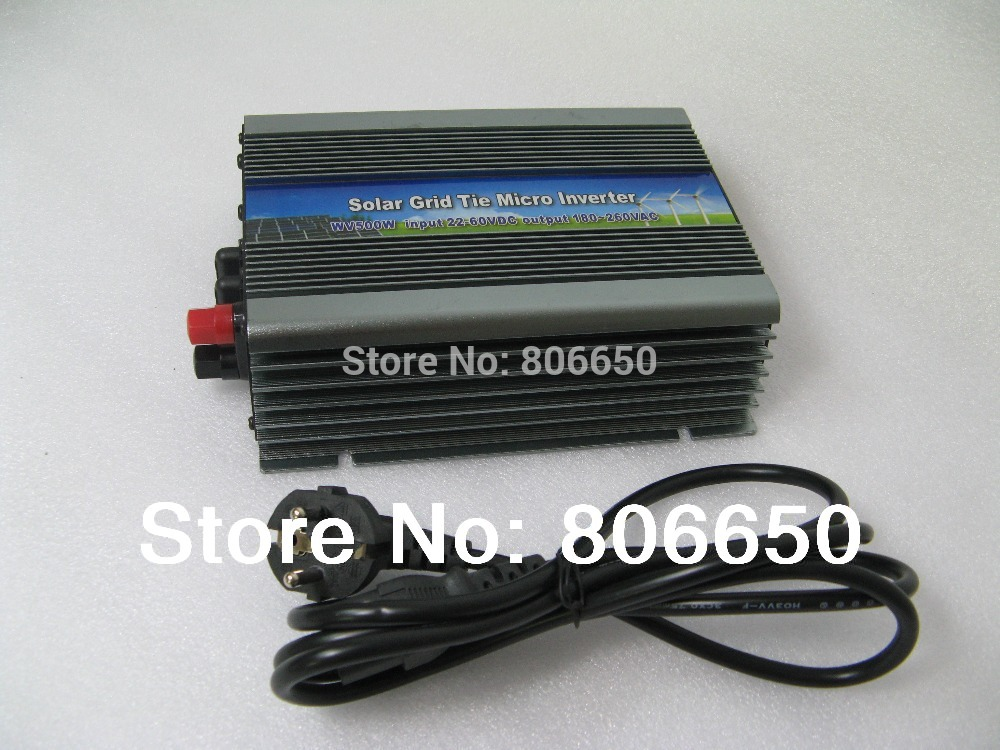 ECO-500W Pure Sine inverter DC18~48V AC240V micro grid tie inverter with MPPT function ,free shipping *(China (Mainland))