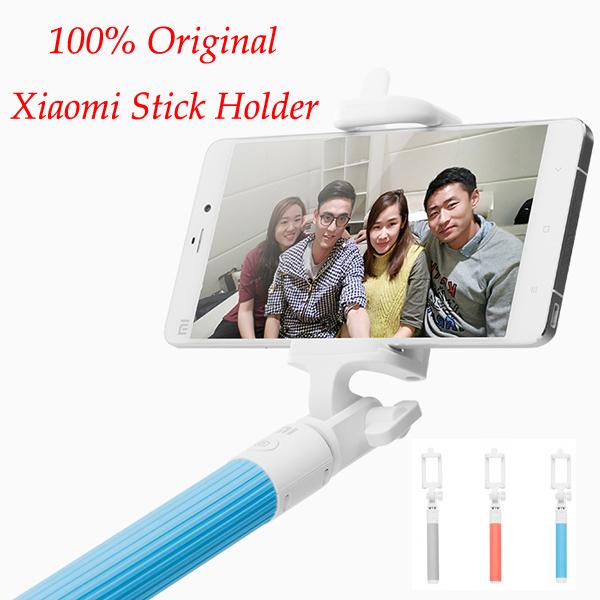 100 Original Xiaomi selfie shutter Monopod Stick Holder Extendable Handheld Bluetooth Shutter for IOS Android Mobile