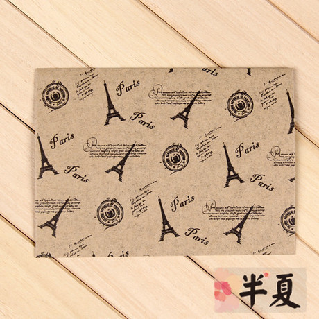[spacer] Vintage envelope Paris iron tower Kraft envelope / card envelope<br><br>Aliexpress