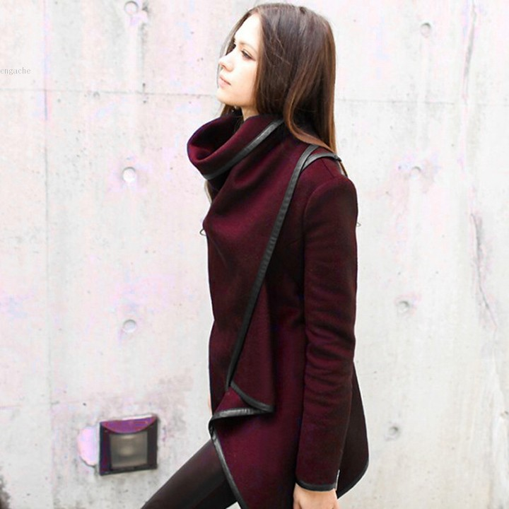 Discount Winter Coat Women trench Wool overcoat Long M-XXXL Long Sleeve 3 Colors Solid Casual Warm Thick Plus Size 34(China (Mainland))