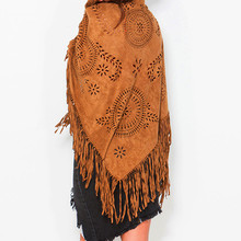 Bufandas spain Paisley scarf suede bufanda hollow out shawl tassel bandana 2015 womens winter scarf  fashion scarves from india(China (Mainland))
