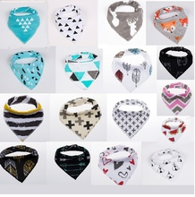 20 styles 4pcs a lot  burp  brand baby bibs saliva towel Arrow animal cartoon burp cloths kids triangle cotton cool  accessories(China (Mainland))