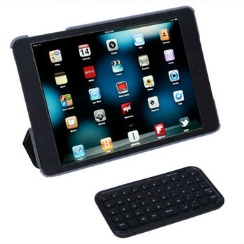 Free Shipping Slim Mini Wireless Bluetooth Keyboard For iPad/iPhone 4.0 OS PS3 PDA Black