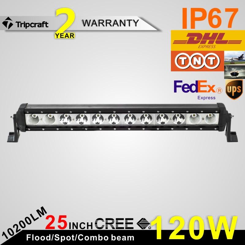 Фотография 120w CREE LED Light Bar Spot Flood Combo Beam 12v 24v Truck SUV Boat 4X4 4WD ATV LED Bar