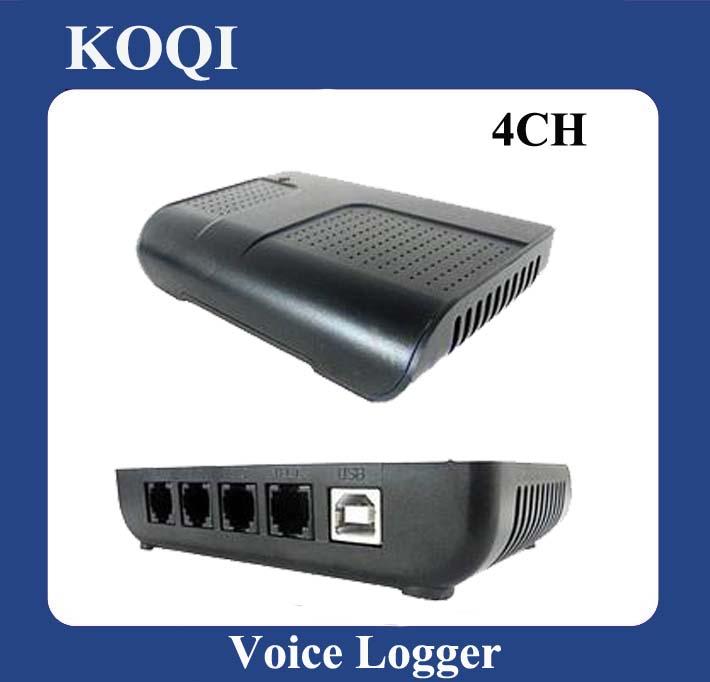 DHL Free Shipping Cheap 4 Lines USB Telephone Recording Box(China (Mainland))